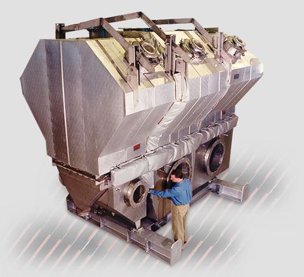 Secador de lecho fluido para chips de aluminio