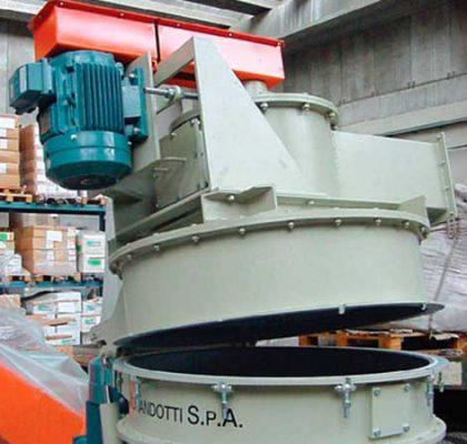 Clasificador en la parte superior del molino pulverizador SV micro - Cimma