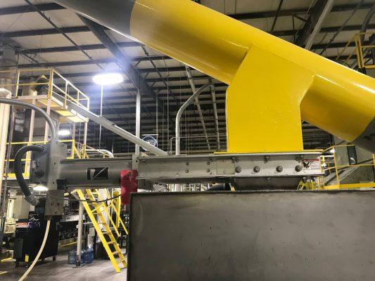 Válvula Roller Gate instalada en planta de abrasivos - Vortex