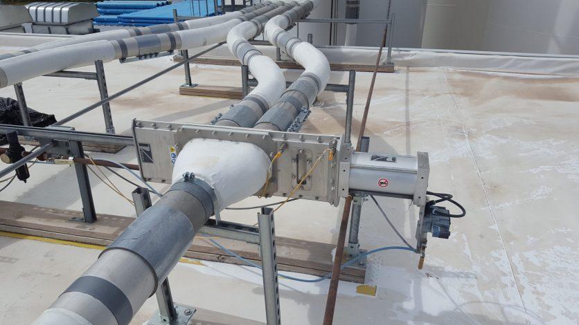 Válvula desviadora Wye line con recubrimiento antidesgaste - Vortex