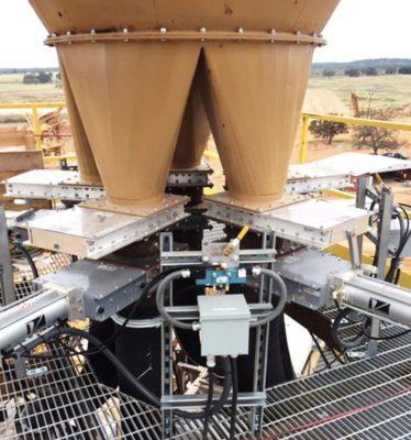 Válvulas Roller Gate en silo de arena - Vortex