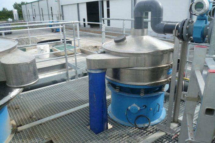 Filtración de agua lavado de lechugas - Vibrowest